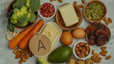 اعراض نقص فيتامين أ